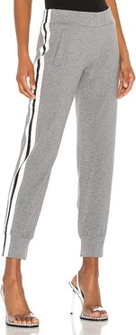 Side Stripe Jog Pant in Gray. - size XS (also in M)