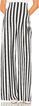 High Waist Pleat Pant in Black & White. - size S (also in L,M,XS)