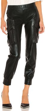 Cargo Jog Pant in Black. - size XS (also in M,S)