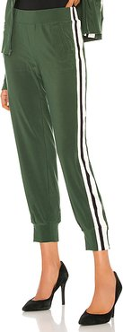 Side Stripe Jog Pant in Green. - size M (also in L,S,XS)