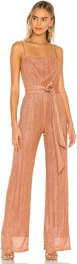 X REVOLVE Mystery Jumpsuit in Metallic Bronze. - size S (also in L,M)