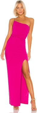 Lust One Shoulder Gown in Pink. - size XS (also in L)