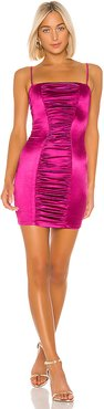 Tease Satin Mini Dress in Pink. - size XS (also in S)