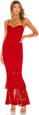 Liana Lace Gown in Red. - size XS (also in L)