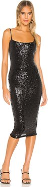 Sweet Nothings Sequin Midi Dress in Black. - size XS (also in M,S)