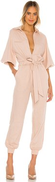 Harper Jumpsuit in Rose. - size XS (also in S)