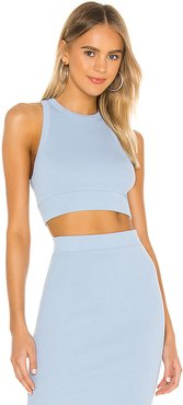 X REVOLVE Alicia Sleeveless Crop Top in Baby Blue. (also in L,M,S)