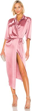 Lais Wrap Dress in Pink. - size L (also in M)
