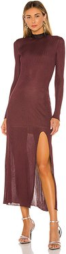 Hebe Dress in Wine. - size L (also in M,S)