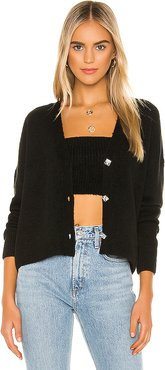 X REVOLVE Cass Cropped Cardigan in Black. - size L (also in M)