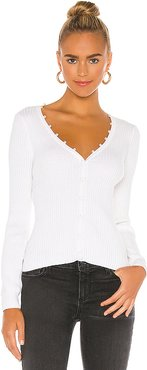 Sophie Pearl Cardigan in White. - size L (also in M)
