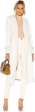 Greylin Wool Coat in White. - size S (also in L,M)