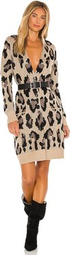 Leopard Cardigan in Brown. - size XS (also in S,M,L)