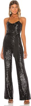 Kallie Combo Jumpsuit in Black. - size 8 (also in 4)