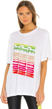 Emerging Tee in White. - size S (also in M,XS)