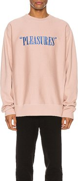 Balance Embroidered Premium Crewneck in Pink. - size S (also in L,M,XL)