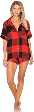 Ultra Soft Buffalo Plaid PJ Set in Red. - size S (also in L,M,XS)