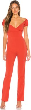 Runaway Jumpsuit in Red. - size XXS (also in L,M,S,XL,XS)