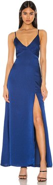 Jolie Maxi Dress in Royal. - size XL (also in M)