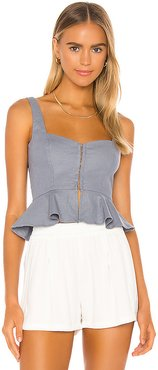 Hanna Top in Blue. - size XXS (also in M)