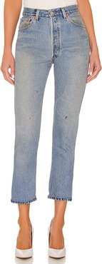 Levis High Rise Ankle Crop in Blue. - size 30 (also in 26,27,28,29)