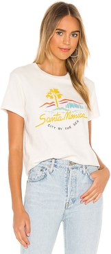 70s Loose Tee City By The Sea in White. - size S (also in XS)