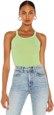 Ribbed Tank in Green. - size S (also in XS,M)