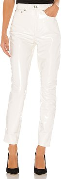 Vinyl Super High Rise Ankle Skinny in White. - size 24 (also in 23,25,29)