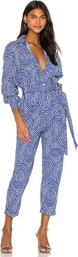 June Jumpsuit in Blue. - size XS (also in M,L)