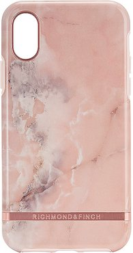 Pink Marble iPhone X/XS Case in Pink.