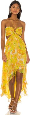 X REVOLVE Bloom Dress in Yellow. - size L (also in S,XS,M)