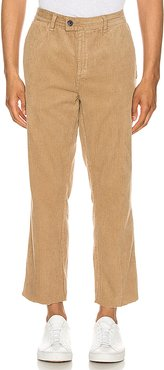 Relaxo Cord Crop Pant in Tan. - size 31 (also in 32,33,34)
