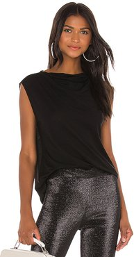 Selma Cowl Neck Top in Black. - size S (also in XS,M,L)