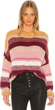 Blur The Lines Striped Sweater in Pink. - size S (also in L,M,XS)