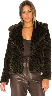 Wild Night Faux Fur Jacket in Green. - size S (also in XS)