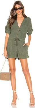 Squad Leader Surplus Romper in Army. - size M (also in XS)