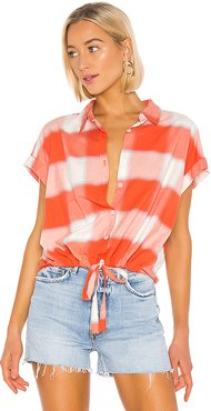 Borrego Tie Shirt in Red. - size S (also in XS)