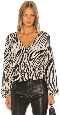 All Nighter Blouse in Tan. - size XS (also in L,M,S)