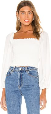 Mindy Top in White. - size S (also in L,M,XS)