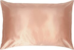 Queen/Standard Pure Silk Pillow Case in Rose Gold.