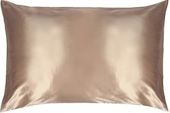 Queen/Standard Pure Silk Pillowcase in Caramel.