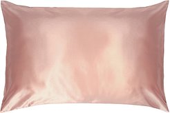Queen/Standard Pure Silk Pillowcase in Pink.