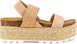 Circa Flatform Sandal in Tan. - size 9 (also in 10,7,8)