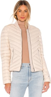 Bruna Puffer Jacket in Ivory. - size XS (also in L,M,S)