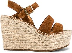 Como Platform Wedge in Brown. - size 8 (also in 10,6.5,7,7.5,8.5,9,9.5)