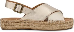 Eloise Espadrille Sandal in Metallic Gold. - size 5 (also in 6,5.5,6.5,7,7.5,8,8.5,9,9.5,10)