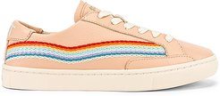 Rainbow Wave Sneaker in Blush. - size 10 (also in 6,5,5.5,6.5,7,7.5,8,8.5,9,9.5)