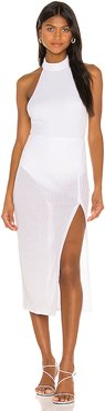 Brix Midi Dress in White. - size XXS (also in L,M,S,XL,XS)