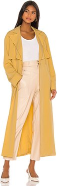 Hugo Trench Coat in Yellow. - size L (also in M)