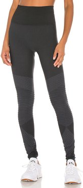 Look at Me Now Seamless Moto Legging in Black. - size M (also in XS,S,L)